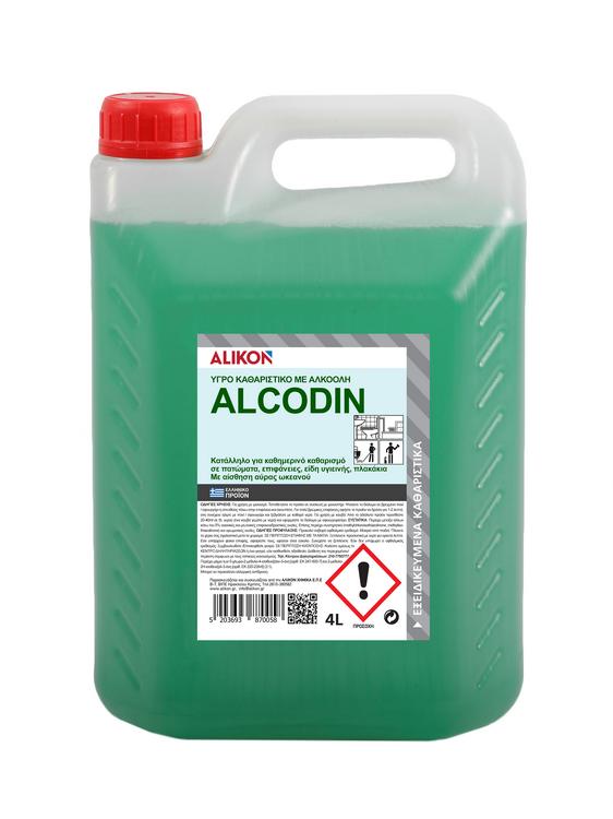 ΥΓΡΟ ΚΑΘΑΡΙΣΤΙΚΟ ΜΕ ΑΛΚΟΟΛΗ ALCODIN 4 L